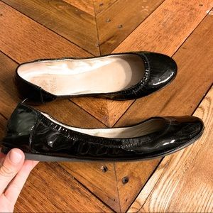 Vince Camuto Black Patent Leather Flats 8